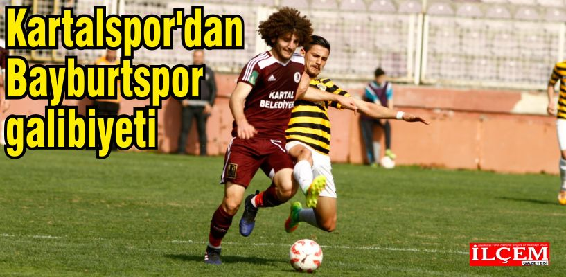 Kartalspor'dan Bayburtspor galibiyeti.