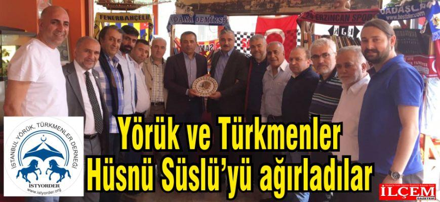 İstanbul Yörük ve Türkmenler Hüsnü Süslü'yü ağırladılar.