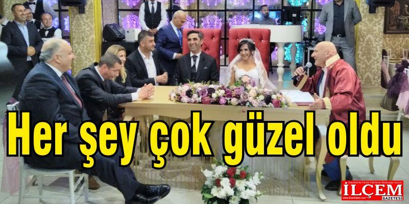 Nurali Çiftçi-Özden Dinçer'in düğünü çok güzel oldu.