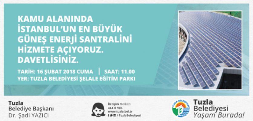 Tuzla Belediyesi'nden İstanbul'un En Büyük Güneş Enerji Santrali!