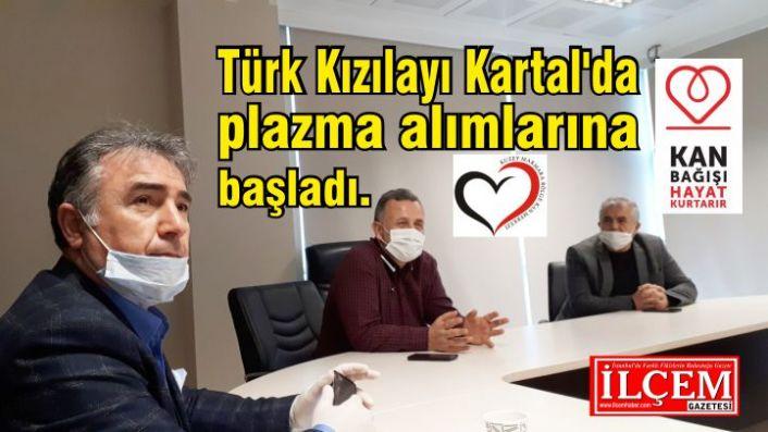 Türk Kızılayı Kartal'da plazma alımlarına başladı.