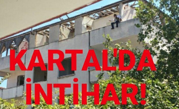 Kartal'da intihar girişimi korkuttu.