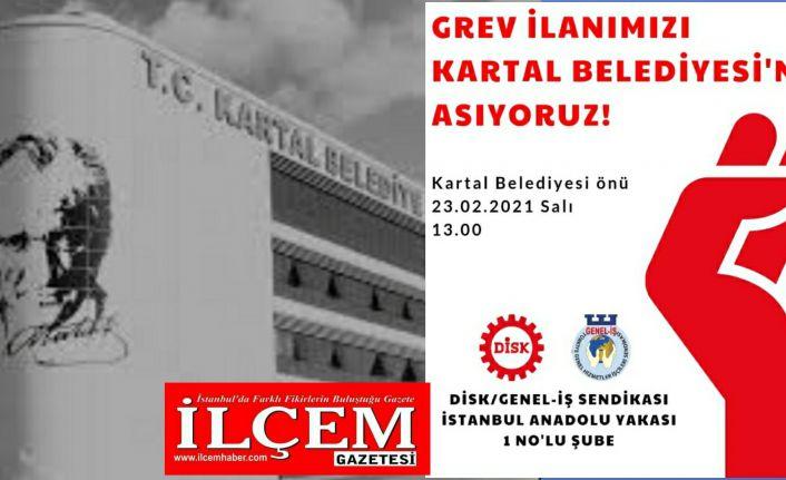 İşçilerden Maltepe Belediyesi ve Kartal Belediyesi'nde Grev kararı