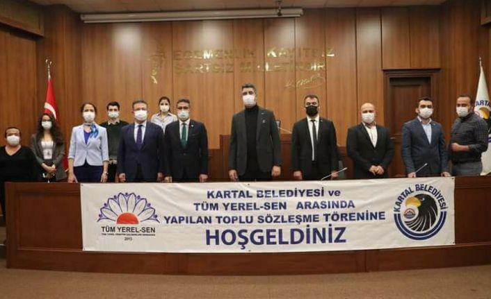 Kartal Belediyesi 430 memurun iş sözleşmesini imzaladı