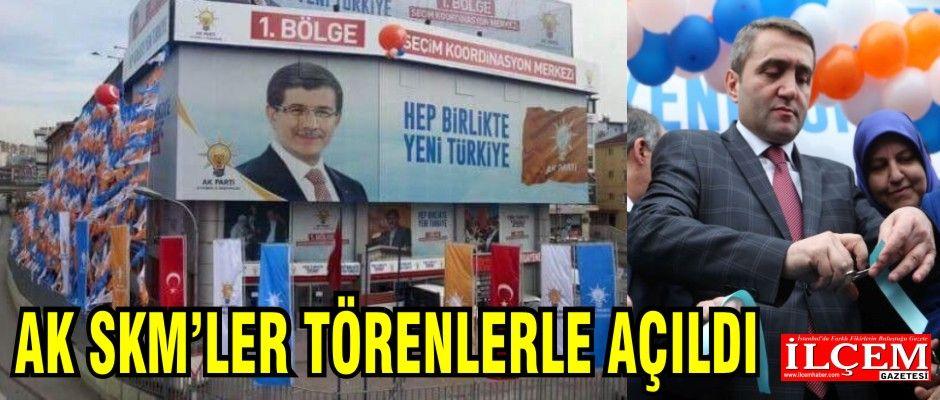 AK Parti İstanbul, 1. 2. ve 3. bölge Seçim koordinasyon merkezlerini açtı.