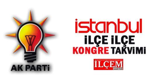 AK Parti İstanbul  İlçe Teşkilatlarının kongre tarihleri netleşti. İşte o tarihler