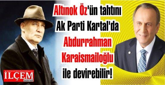 Altınok Öz'ün tahtını Ak Parti Kartal'da Abdurrahman Karaismailoğlu ile devirebilir!