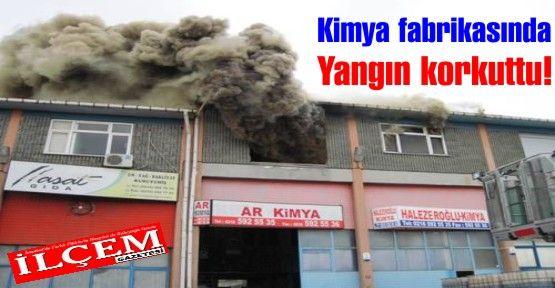 Ar Kimya fabrikasında çıkan yangın korkuttu.
