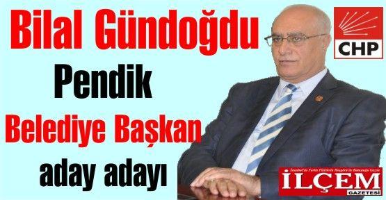 Bilal Gündoğdu, Pendik CHP Belediye Başkan aday adayı