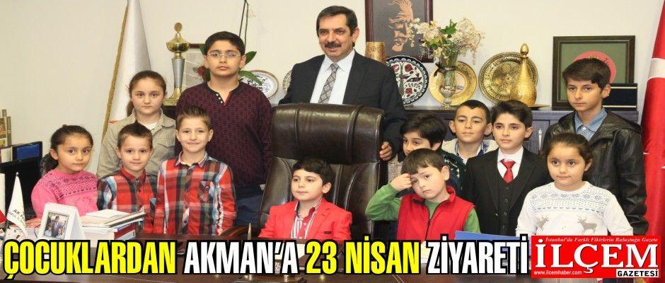 Çocuklardan Muhammet Mehdi Akman'a 23 Nisan ziyareti