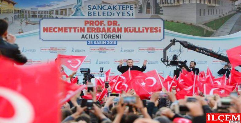 Cumhurbaşkanı Erdoğan, Prof. Dr. Necmettin Erbakan Külliyesi'nin ve Hacı Fatma Fitnat Camii'nin açılışını yaptı.