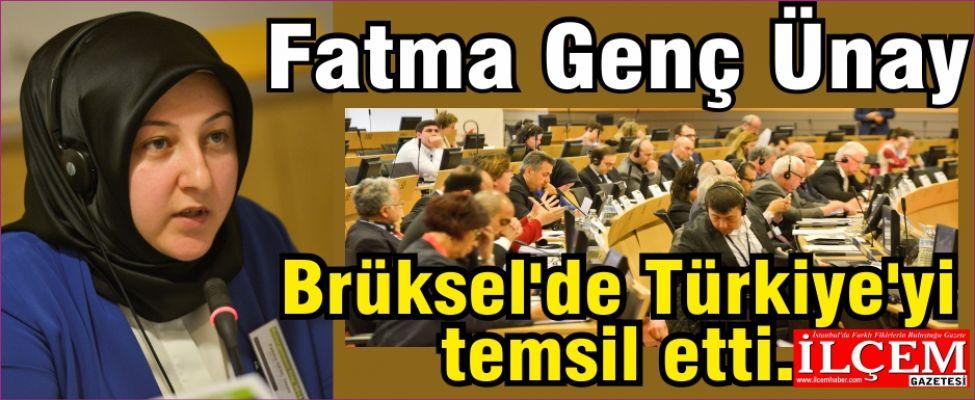 Fatma Genç Ünay, Brüksel'de Türkiye'yi temsil etti.