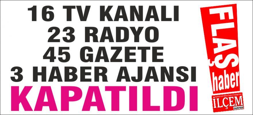 Fetö Medya kuruluşları kapatıldı.