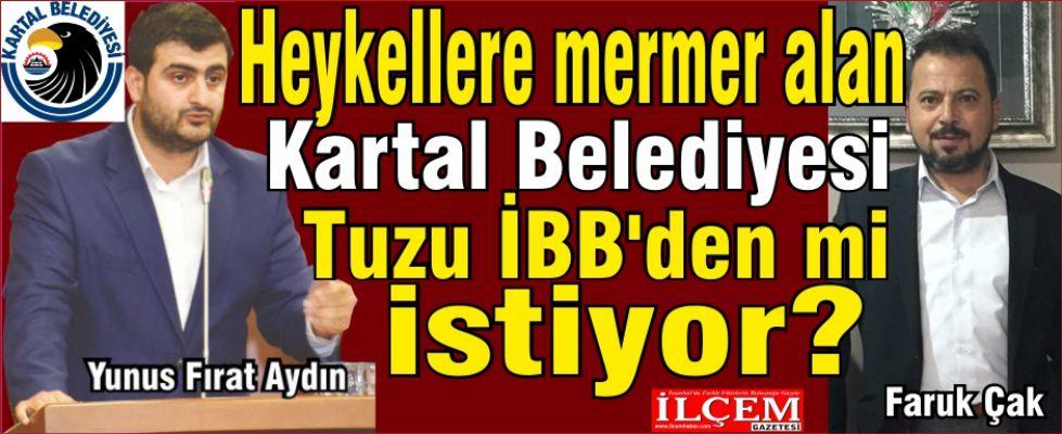 Heykellere mermer alan Kartal Belediyesi Tuzu mu İBB'den istiyor?