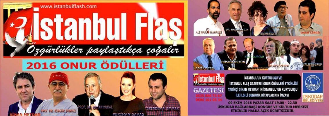 İstanbul Flaş Gazetesi'nden 2016 Onur ödülleri