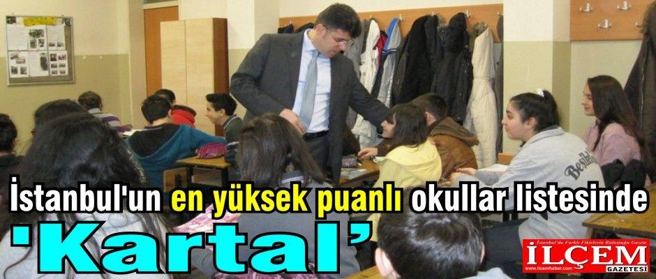 İstanbul'un en yüksek puanlı okullar listesinde 'Kartal'