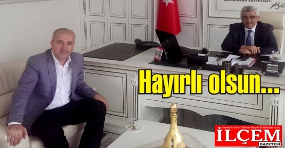 Kartal kaymakamı Cemil Aksak, Aytekin Yaşar'ı ağırladı.