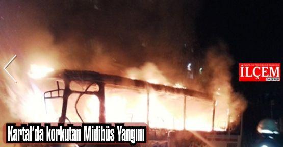Kartal'da Midibüs yangını