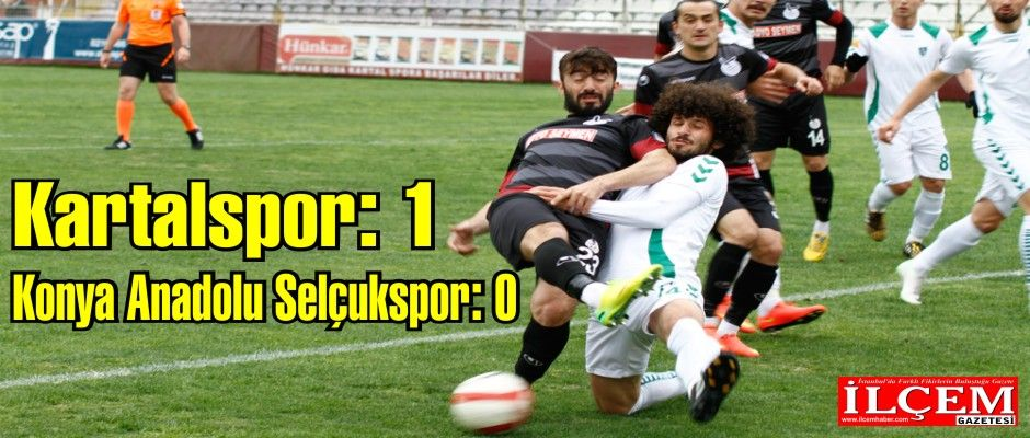 Kartalspor: 1 - Konya Anadolu Selçukspor: 0
