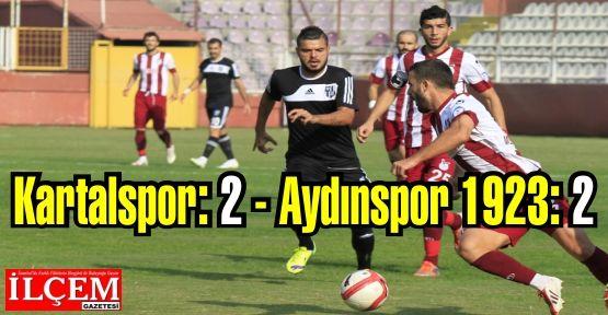 Kartalspor: 2 - Aydınspor 1923: 2