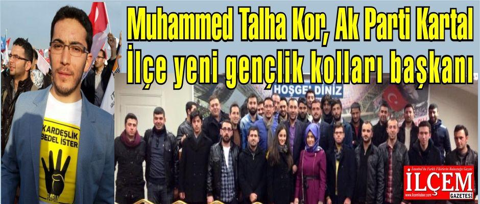 Muhammed Talha Kor, Ak Parti Kartal İlçe yeni gençlik kolları başkanı