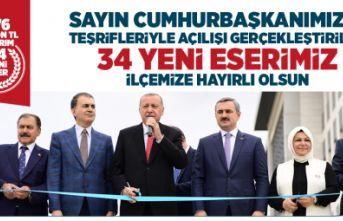 Cumhurbaşkanı Erdoğan Sancaktepe'de 34 eserin açılışını yaptı.