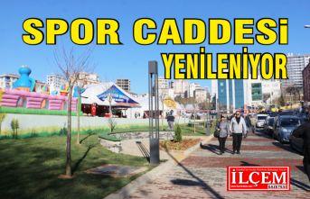 Kartal Belediyesi Spor Caddesini Yeniliyor.