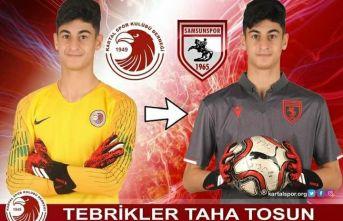 Taha Kartal'da yetişti, Samsunspor'a transfer oldu.