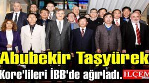 Abubekir Taşyürek Kore'lileri İBB'de ağırladı.