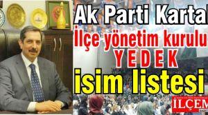 Ak Parti Kartal İlçe yönetim kurulu yedek isim listesi
