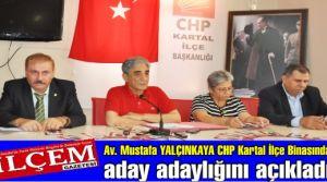 Av. Mustafa YALÇINKAYA CHP  Kartal Belediye başkan aday adayı. Av. Mustafa YALÇINKAYA kimdir?