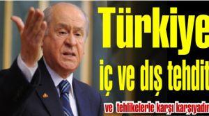 Bahçeli 'Türkiye iç ve dış tehdit ve tehlikelerle karşı karşıyadır!'