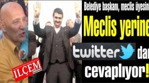 Belediye başkanı Altınok Öz, Meclis üyesi Yunus Fırat Aydın'a twitter'den cevap veriyor.