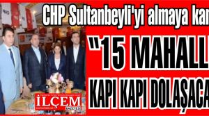 CHP Sultanbeyliyi almaya kararlı!
