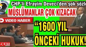 """Efrayim Deveci'den Müslümanları kızdıracak şok sözler """"1600 yıl önceki hukuk!"""""""