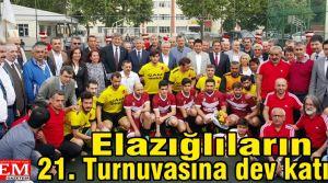 Elazığlıların 21. Turnuvasına dev katılım