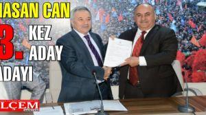 Hasan Can 3. kez aday adayı oldu
