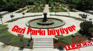 İstanbul Büyükşehir Belediyesi Taksim Gezi Parkını 8 bin mmetrekare daha büyütüyor