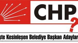 İşte CHP'nin Kesinleşen Belediye Başkan Adayları