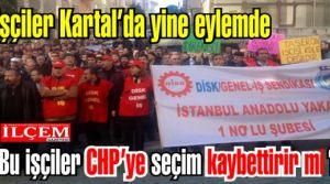 Kartal Belediyesi işçilerinden toplu iş bırakma ve toplu vizite eylemi!