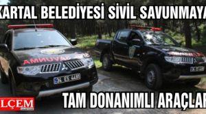 Kartal Belediyesi Sivil Savunma Müdürlüğüne tam donanımlı 2 adet hizmet aracı