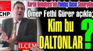 Kartal Belediyesi'nin Ömer Fethi Gürer başkanlığında yandaş Basın Senaryoları