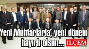 Kartal'ın Yeni seçilen muhtarları belediye başkanıyla toplantı yaptılar.