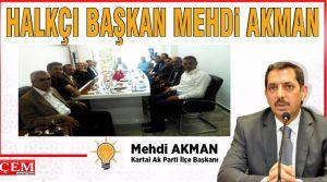 Mehdi Akman halk ile iç içe