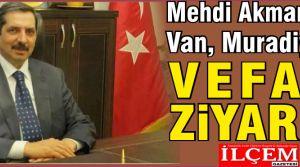 Mehdi Akman'dan Muradiye'ye Vefalı ziyaret