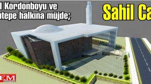 Sahil Cami'nin temeli atılıyor.
