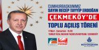 Cumhurbaşkanı Recep Tayyip Erdoğan Çekmeköy'de.