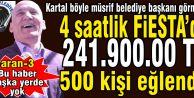 Halkçı başkan Altınok Öz sosyal yardımı düşürüp 500 kişi eğlensin diye 241.900 TL. harcamış!