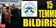 İstanbul YörükTürkmen Derneği'nden 15 Temmuz Bildirisi