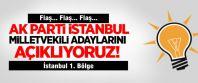 Ak Parti İstanbul 1. Bölge milletvekili adaylarının isim listesi